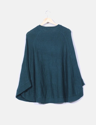 Capa tricot verde oscuro