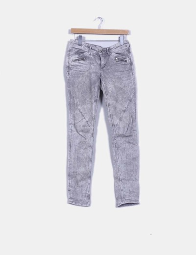 Jeans denim super skinny gris degrade