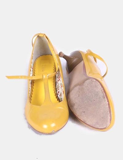 Amarillos Charol Zapatos Con Tacón De zpULSqMGV