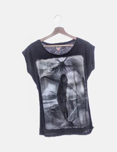 Camiseta manga larga gris print
