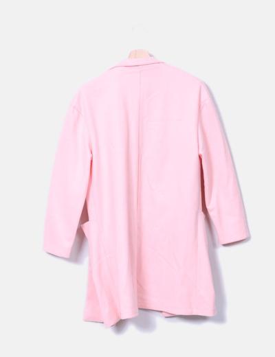 Abrigo boyfriend rosa