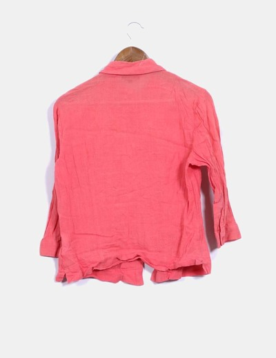 Camisa coral texturizada
