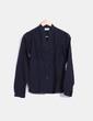 Camisa negra cuello mao Pull&Bear