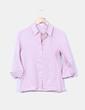 Camisa lila de ramio Tex Woman
