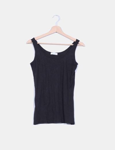 Camiseta básica tirantes negra Promod
