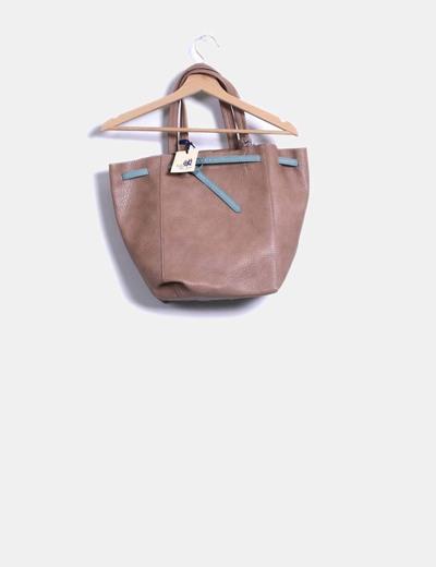 Bolso shopper marrón texturizado Jo&Mr. Joe