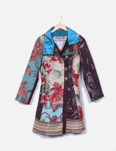 Manteau multi-couleurs texturé Desigual