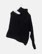 Jersey negro asimétrico cuello vuelto NoName