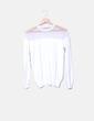 Sudadera blanca combinada Zara