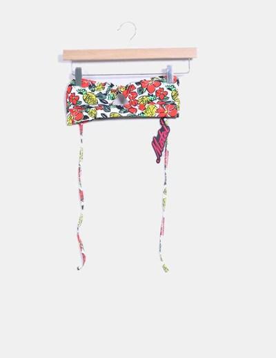 Parte superior bikini floral fruit Motel