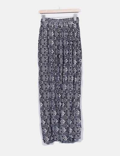 Falda maxi estampada