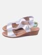 Sandalia metalizada de cuña Oh my sandals