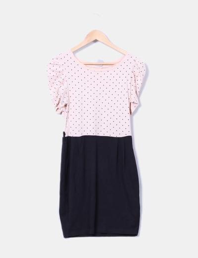 Vestido bicolor Pull&Bear