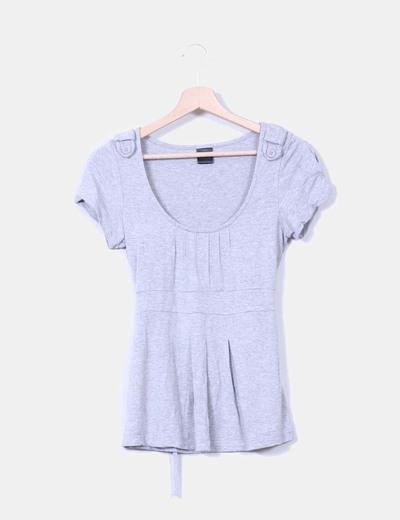 Camiseta gris de manga corta OXMO