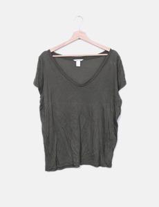 Camiseta basic verde H&M