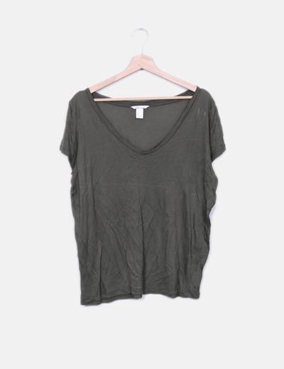 T-shirt vert de base H&M