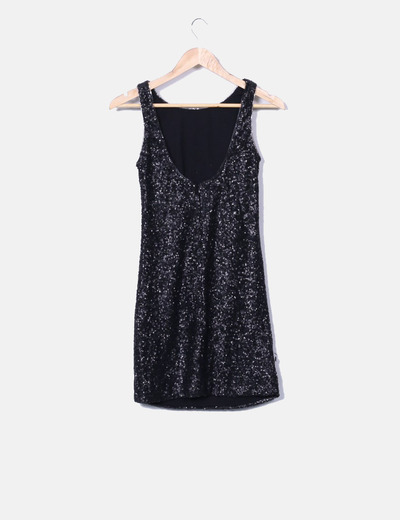 113a2e382 ONLY Vestido negro de lentejuelas (descuento 85%) - Micolet
