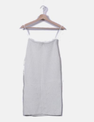 Falda de punto blanca