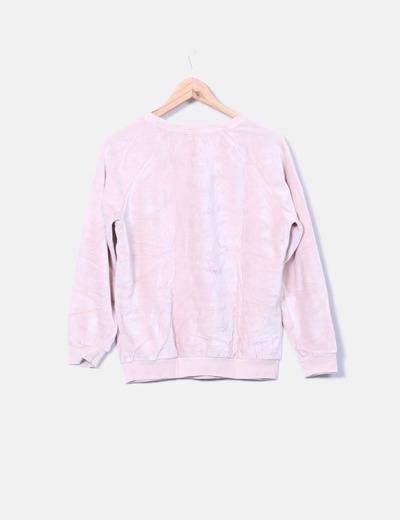 Sudadera rosa palo de felpa