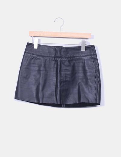 Mini falda negra Luciano Abitboul
