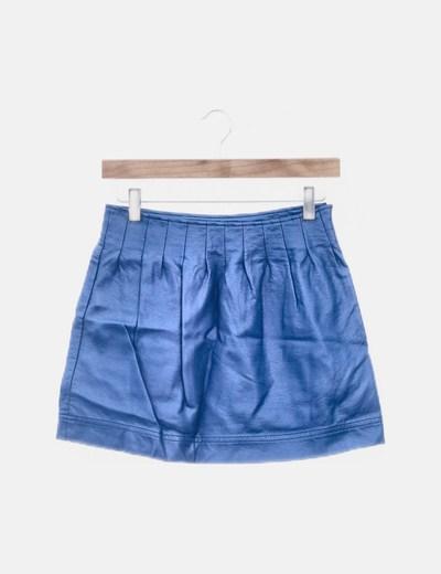 Falda azul polipiel