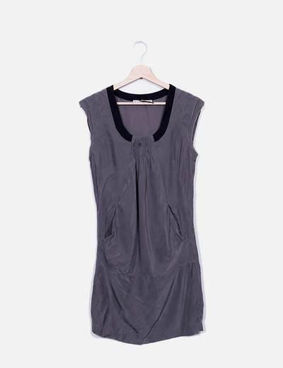 Vestido midi gris Kookaï
