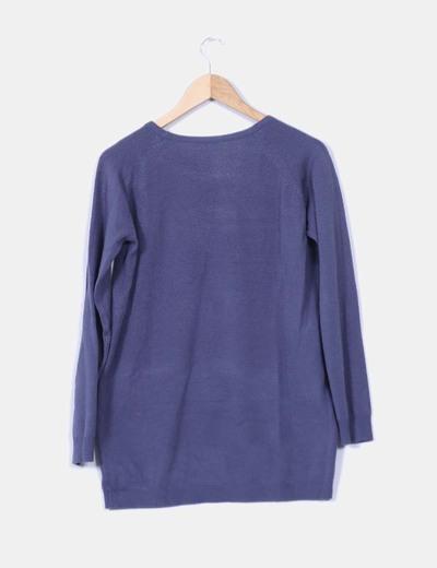 Jersey azul marino oversize