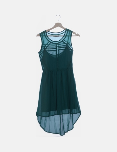Vestido verde strass