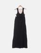 Vestido maxi negro combinado crochet NoName