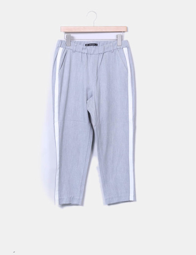 calça chino cinza zara