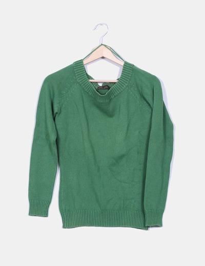 Jersey de punto verde Zara