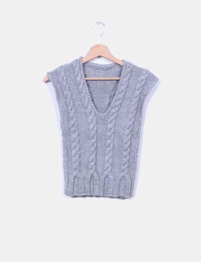 Chaleco lana gris  NoName