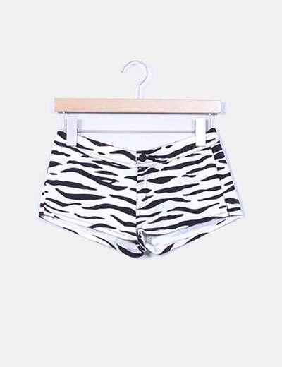 Shorts denim zebra