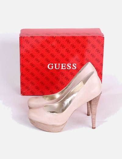 Zapato Beige Tacón Guess 96Micolet Maderadescuento TK3uJc1lF5