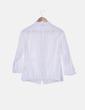 Camisa cuello mao texturizado blanco Adolfo Dominguez