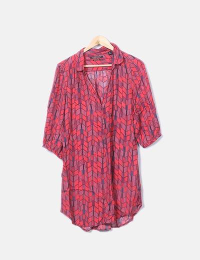 Maison Scotch Morbido vestito rosso stampato (sconto 67%) - Micolet fdbd49bb6ac