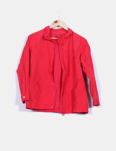 Chaqueta roja textura  terciopelo Mayoral