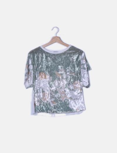 Camiseta velvet estampada