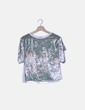 Camiseta velvet estampada Zara