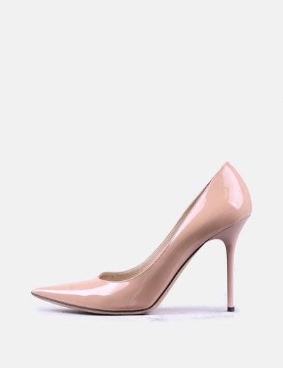 Zapatos salones charol nude