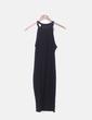 Vestido negro cuello halter Zara