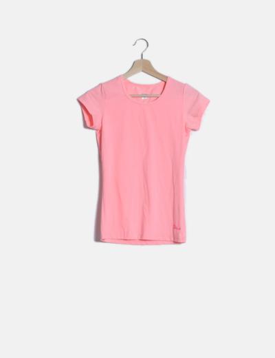 Camiseta flúor rosa