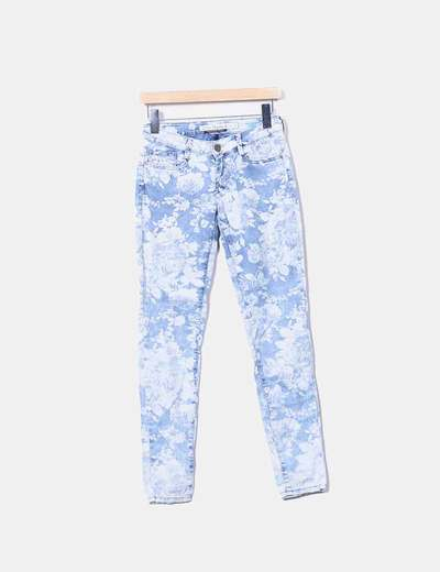 Jeans print floral Zara