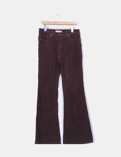 Pantalon de pana marron