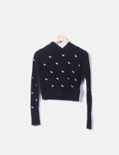 Jersey de punto print perro Zara