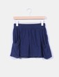 Mini falda azul marino Zara