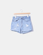 Short denim ripped Oysho