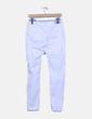Jeans ripped blanco pitillo Pull&Bear