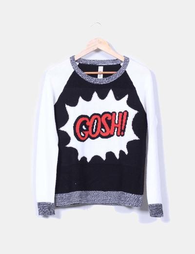Jersey de punto print 'GOSH' Pull&Bear