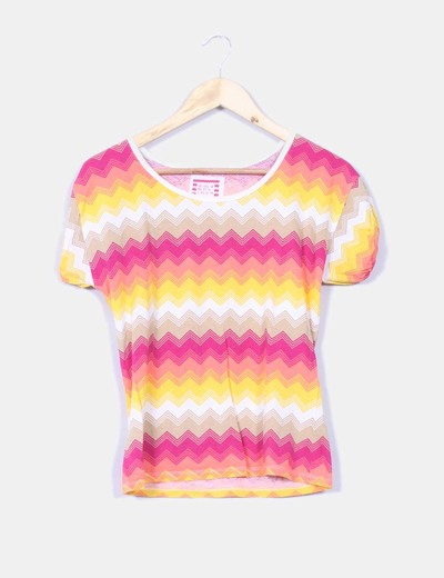Camiseta estampado zig-zag Atmosphere